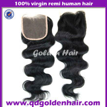 Golden Hair On Alibaba Express Huge Selling Brazilian Virgin Hair--- Top Closure