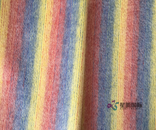 100% Wool Striped Woven Fabric