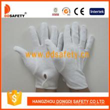 Guantes ligeros Dch114 del desfiguro del inspector del algodón del peso medio