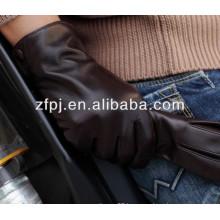 2014 winter sheepskin basic lamb leather gloves for men's