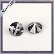 Fashion Design Round brillant brillant pierres précieuses zircone cubique