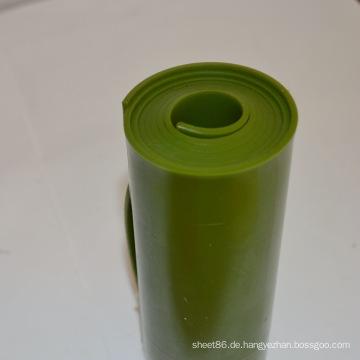 Dunkelgrüne flammhemmende PU Kunststofffolie / Rolle