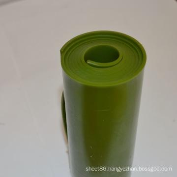 Dark Green Flame Retardant PU Plastic Sheet / Roll