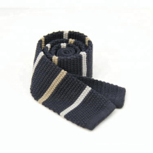 Custom Men's Striped Knitted Polyester Fancy Neckties