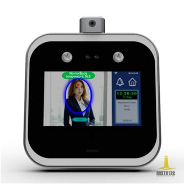 Máquina de asistencia de termómetro de reconocimiento facial dinámico