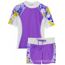 Tuga Girls Upf 50+ Seaside S/S Rashguard and Swim Shorts