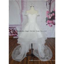 Estilo chinês hight pescoço elegante vestido de noiva vestido de vestido de noiva