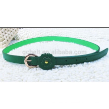 woman's 1.5cm fashion pu belt with flower loop
