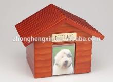 2015 New style Pet wood cottage urn for beloved pet
