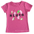Flower Letter Girl T-Shirt in Children Clothes Apparel with Print Sgt-073