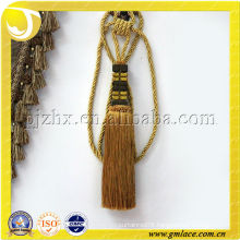 gold decorative curtain tieback tassel in stock