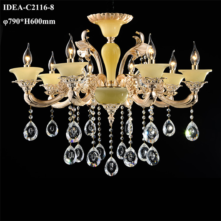 crystal foyer lighting