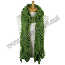 Fashion Pure Colour Ladies Soft Knitted Scarf