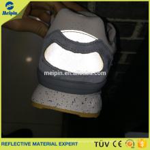 Hoja reflectante barata visible alta de la PU para los zapatos de la PU