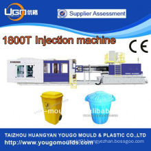 1800T plastic outdoor garbage can production injection moulding machine in China