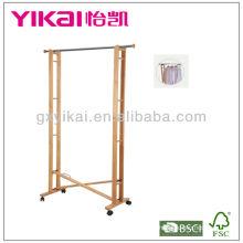 Rack de roupas de madeira sólida funcional