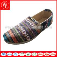 новейшие слипоны в национальном стиле на плоской подошве, женские туфли на платформе, парусиновые женские туфли