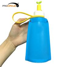 Новый дизайн 300 мл Складная силиконовые бутылки с водой мешок
