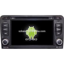 Android 4.4 Miroir-lien Glonass / GPS 1080P dual core voiture multimédia central pour Audi A3 avec GPS / Bluetooth / TV / 3G