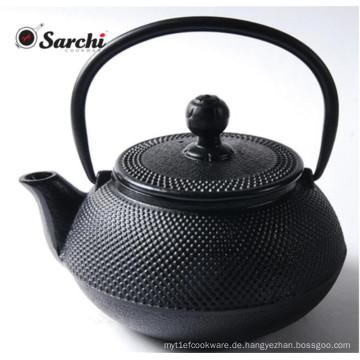 Chinesische Gusseisen Teekanne und Teetasse Set mit Sieb und Trivet