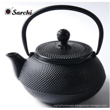 Chinese Cast Iron Teapot and Teacup Set with Strainer and Trivet