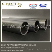 3K Weave Carbon Fiber Tube, 2,5 mm Wandstärke, hergestellt in China, Kohlefasermast
