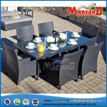 Столы и стулья сад Обедая установленная напольная Обедая комплект