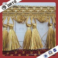 polyester yarn curtain tassel fringe trimmings for curtains