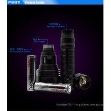 H3 Tactical military flashlight imperméable à l'eau 3 * cree 2500 lumens marine ledlightlight