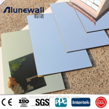 Alunewall 2017 latest design fireproof Aluminium Composite Mirror Panel