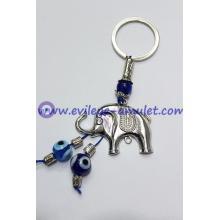 Shambhala alloy elephant amulet evil eye keychain