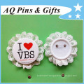 Special Tin Button Badge with Plastic Back (button badge-58)