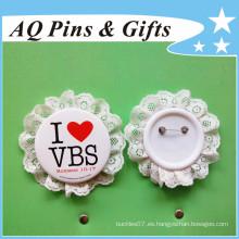 Insignia de botón de chapa especial con parte posterior de plástico (botón insignia-58)