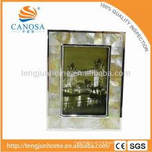 Eco amigável GOlden Mãe-de-pérola Frame Foto com Silver Edge