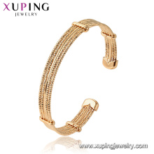52128 xuping 18K gold color Environmental Copper alloy plated bangle