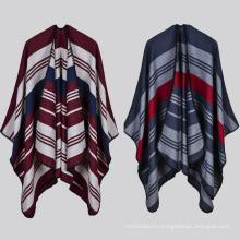 2017 nouveau mode dames confortable hiver chaud poncho en gros
