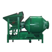 450L mobile concrete drum mixer with lifting hopper