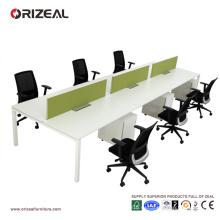 Стол офисный мебель 6 местный станцию скамейке
