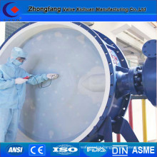 Super size motorized butterfly valve