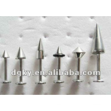 Labret piercing jóias piercings anel de lábio de aço inoxidável