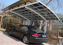 polycarbonate cantilever garden gazebo sun shade aluminum carport car awning