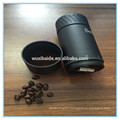 Factory customized Aluminum manual coffee grinder/ steel burr milling /2016 hot sale coffee grinder with logo