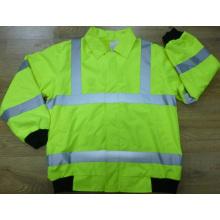 100% Оксфорд Водонепроницаемый, флис 250ГСМ, En20471 Calss2 лента куртка