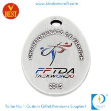 Alta Qualidade Moda Antique Bronze Stamping Taekwondo Medalha de Prata Lembrança Club