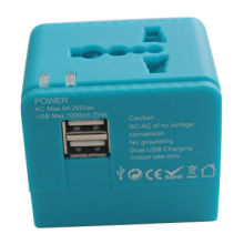 2014 newest design wholesale universal dual USB Portable travel adapter