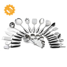 19pcs custom label stainless steel cooking utensil set
