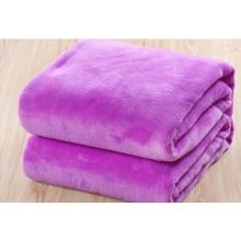 Cobertura coral bonita violeta contínua do velo, cobertor de bebe
