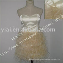 2011 de alta qualidade drop shipping fabricação sexy pena com um vestido de cocktail ombro PP2385
