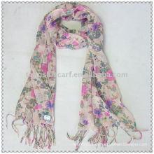 Viskose Schal mit Blumendruck
