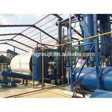 Planta de óleo de borracha de poupança de energia da pirólise do pneu da maquinaria